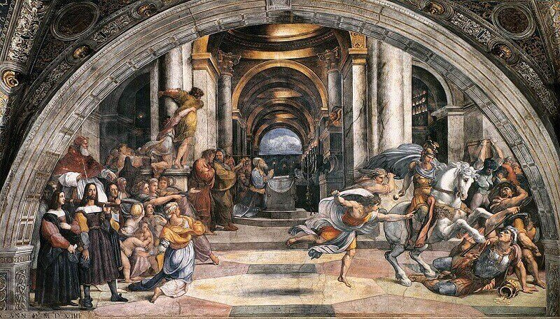 Raffaello Sanzio: Heliodorus kiűzetése, wikipedia.org