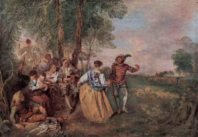 Jean-Antoine Watteau: Pásztorok, wikiart.org