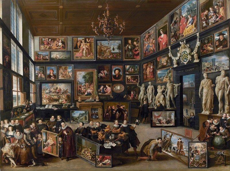 Willem van Haecht: Cornelis van der Geest képtára, commons.wikimedia.org