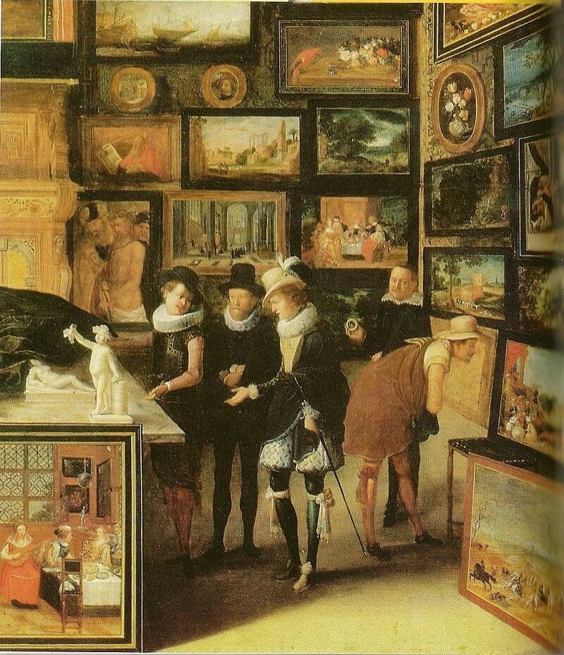 Hieronymus Francken: Jan Snellinck antwerpeni műkereskedőnél, commons.wikimedia.org