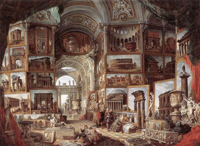 Giovanni Paolo Pannini: Az ókori Róma tájképeinek gyűjteménye, commons.wikimedia.org
