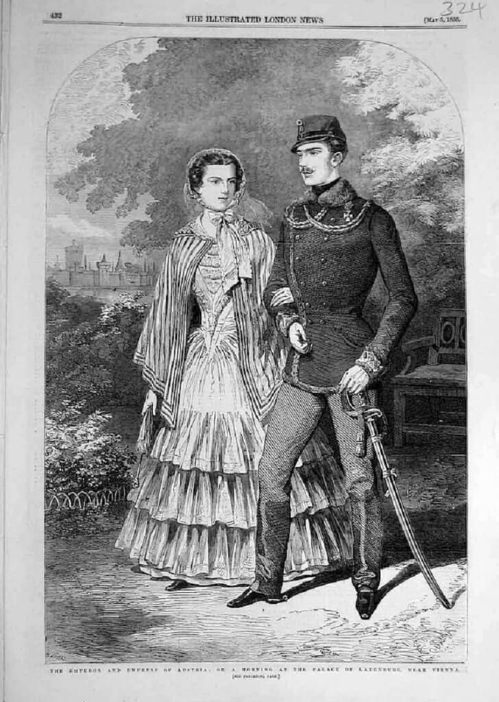 Ferenc József és Sissi 1855-ben, gogmsite.net