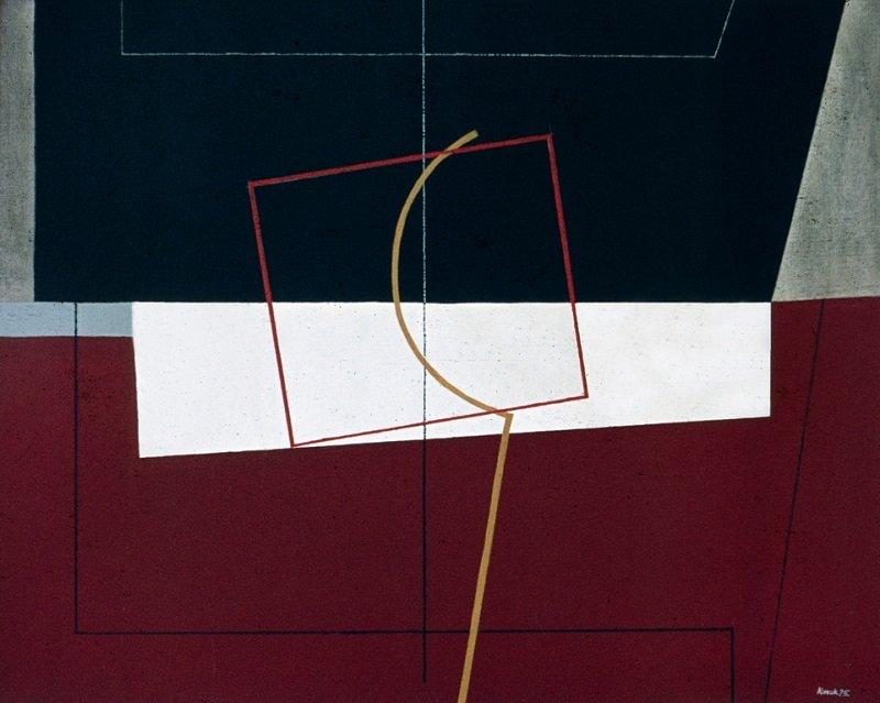 1975_8 Terra di sienna - 73x92cm - Akril,vászon
