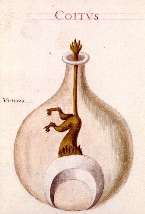 Alkímia – Illusztráció a Sapientia veterum philosophorumból (18. század), pinterest.com