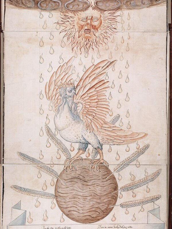 Képletes alkímia, Arnold Villanova Visio Mysticájának angol verziójával – részlet (17. század), beinecke.library.yale.edu