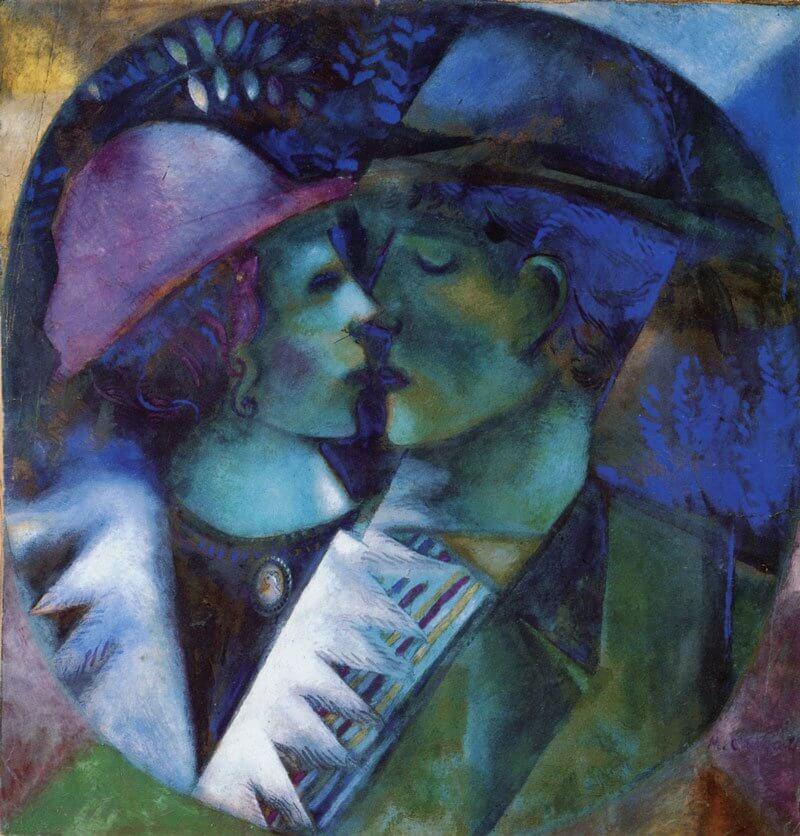 Marc Chagall: Szerelmesek zöldben