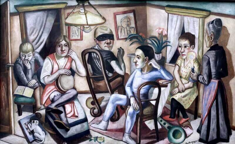 Max Beckmann: Maszkabál előtt, jean louis mazieres, flickr.com