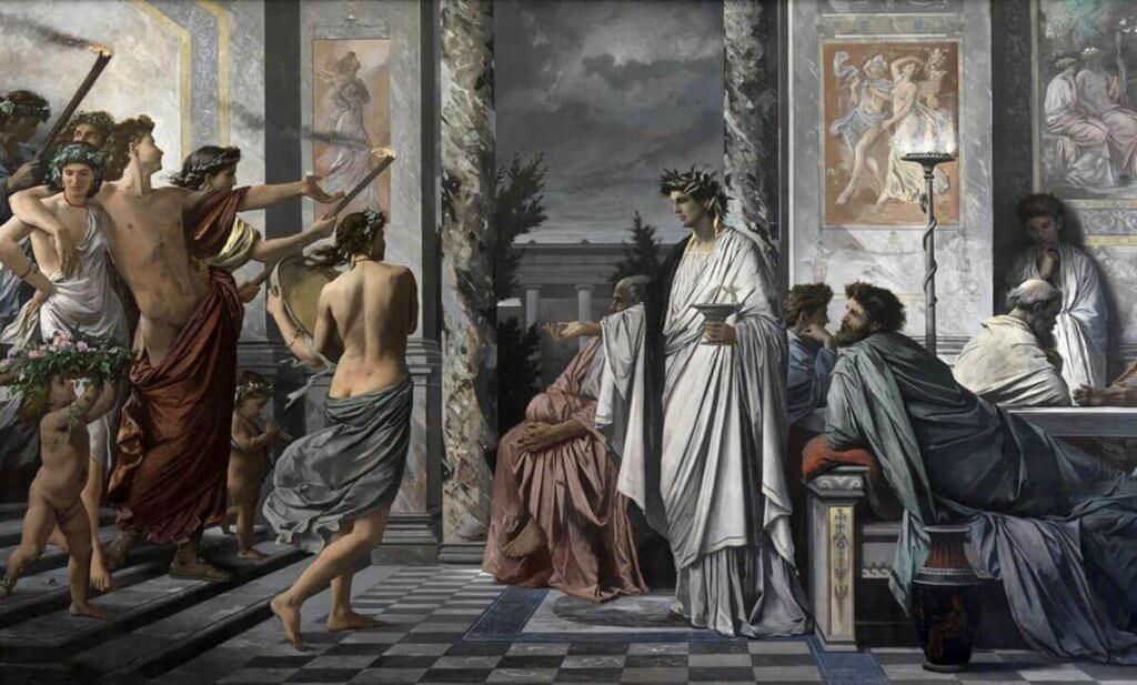 DRÁMAI PILLANAT – PLATÓN ÉS ARISZTOTELÉSZ VITÁJA
