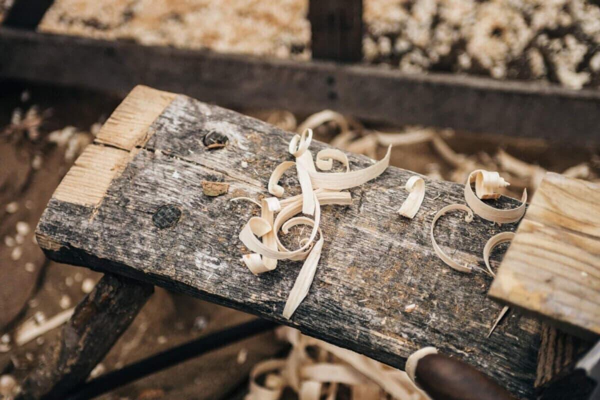 selective photography sawdust on plank