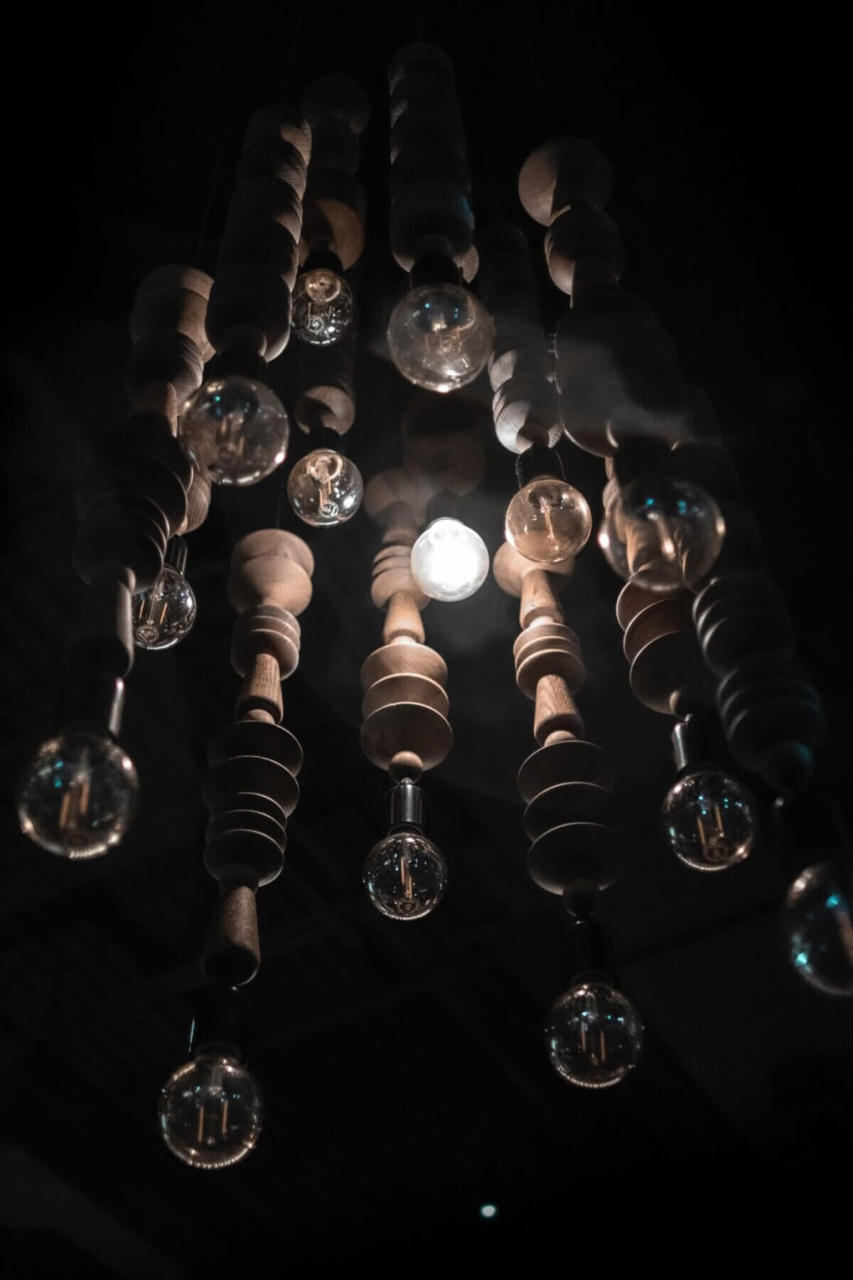 turned-on light bulbs